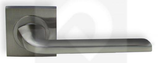 Juego de Manillas Cuadrada Aluminio Niquel Mate 216