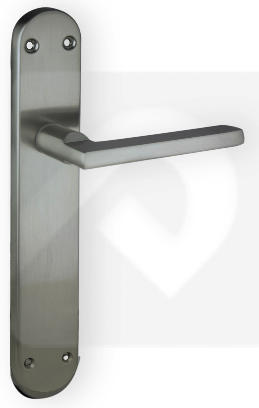 Juego de manillas aluminio placa niquel mate 316 manistil - Picaporte puerta aluminio ...