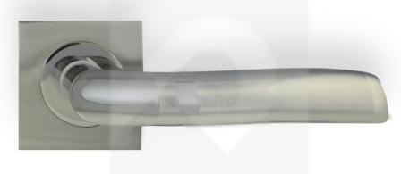 Juego de Manillas Cuadrada Aluminio Niquel Combinado 416