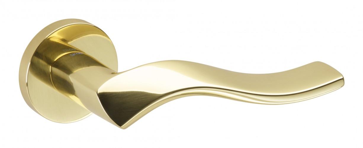 Juego de manillas pulido brillo helice 133 manistil for Manivelas puertas interior