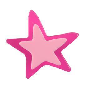 Pomo Infantil Juvenil Metacrilato Estrella Magenta 667MG