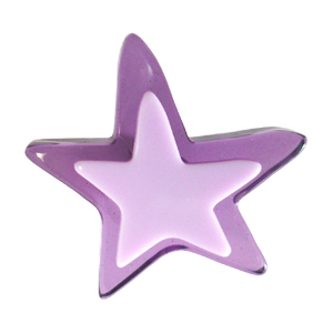 Pomo Infantil Juvenil Metacrilato Estrella Lila 667LI