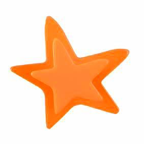 Pomo Infantil Juvenil Metacrilato Estrella Naranja 667NA