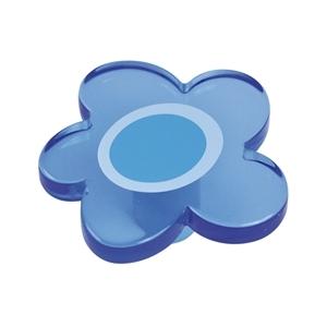 Pomo Infantil Juvenil Metacrilato Flor Azul 698AZXXL