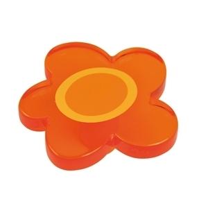Pomo Infantil Juvenil Metacrilato Flor Naranja 698NAXXL