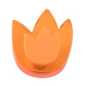 Pomo Infantil Juvenil Metacrilato Tulipan Naranja 665NA