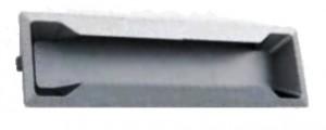 tirador placa cromo mate 3750