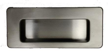 Tirador placa 3703 NIQUEL MATE
