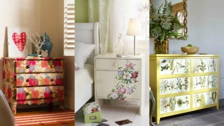 Decoupage como decorar muebles con papel manistil - Decorar muebles con tela ...