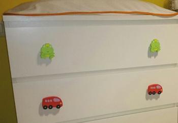pomo habitacion infantil autobus