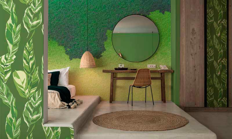 Decoracion interiorismo verde Greenery