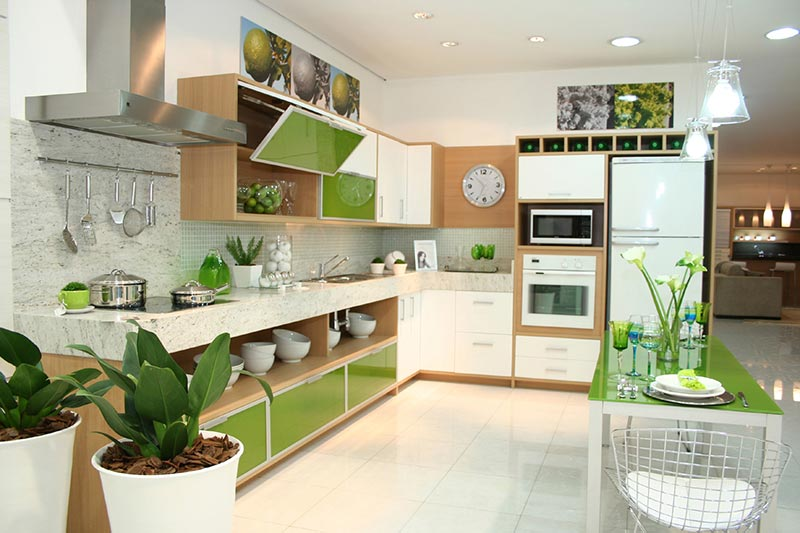 decoracion verde greenery cocinas