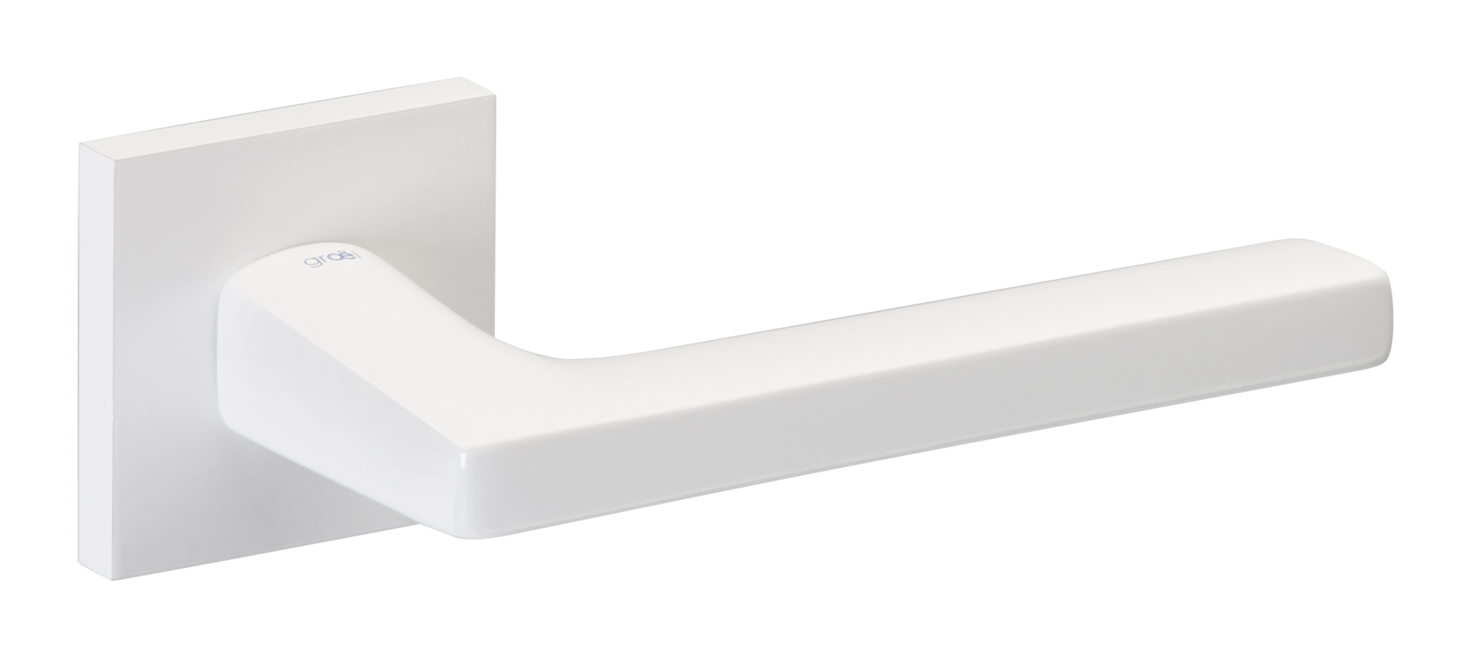 Juego de manillas cuadrado blanco brillo 117 - Manivelas puertas interior ...