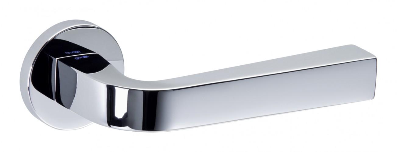 Juego de manillas redonda cromo brillo touch 134 manistil - Manivelas puertas interior ...