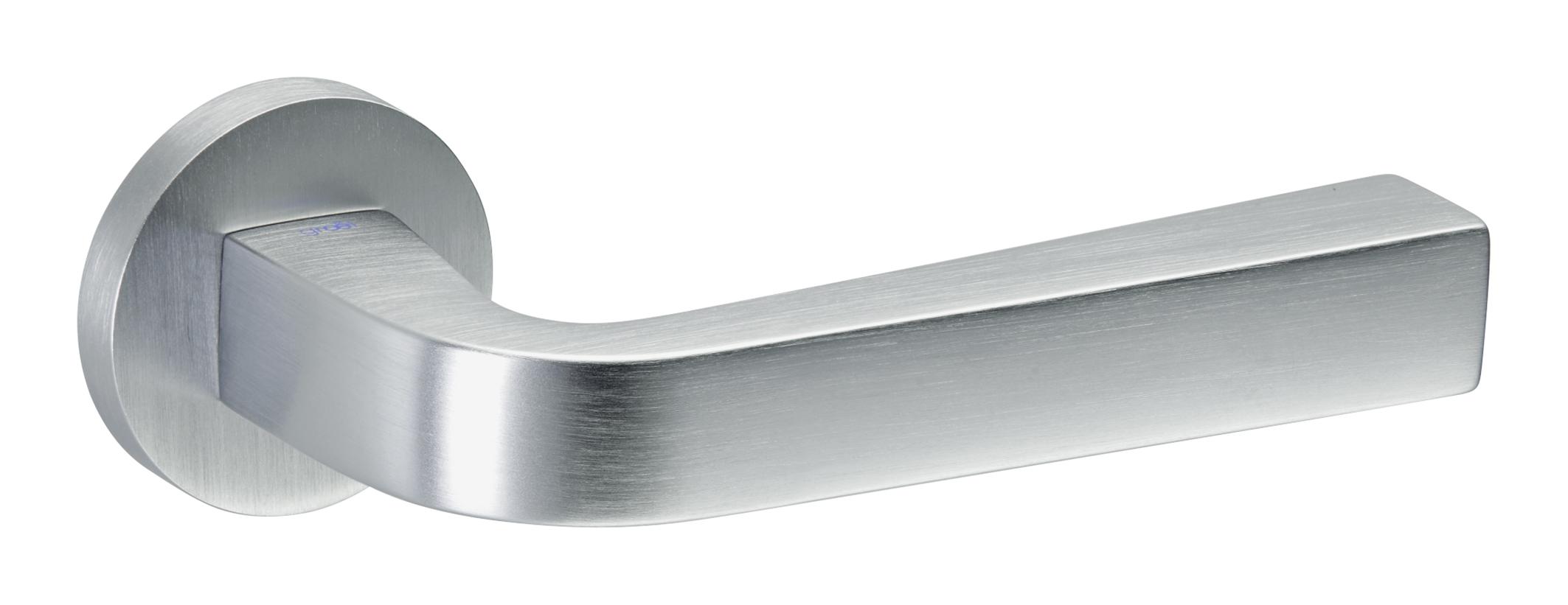 Juego de manillas redonda cromo mate touch 134 manistil - Manivelas puertas interior ...
